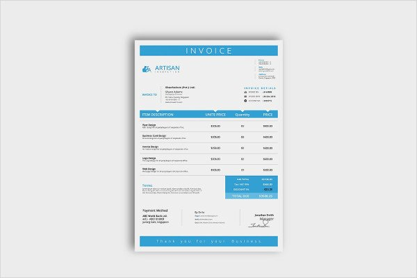 Free Indesign Invoice Template Fresh 23 Business Invoice Templates Psd Word Pdf Documents