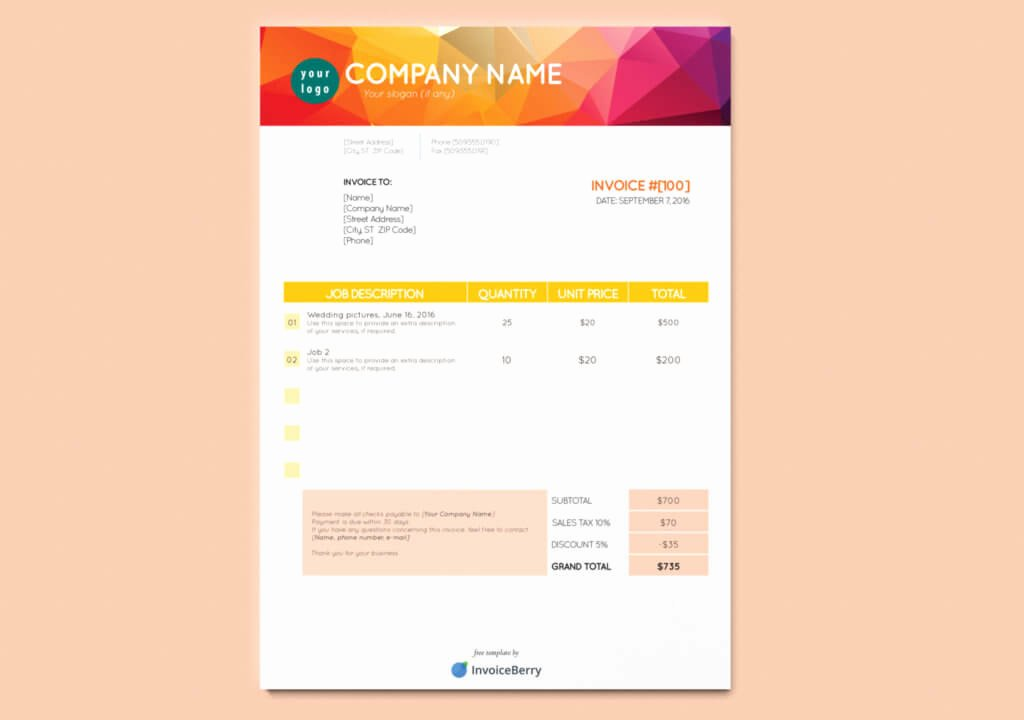Free Indesign Invoice Template Fresh Our Bright and Bold orange & Yellow Free Indesign Invoice