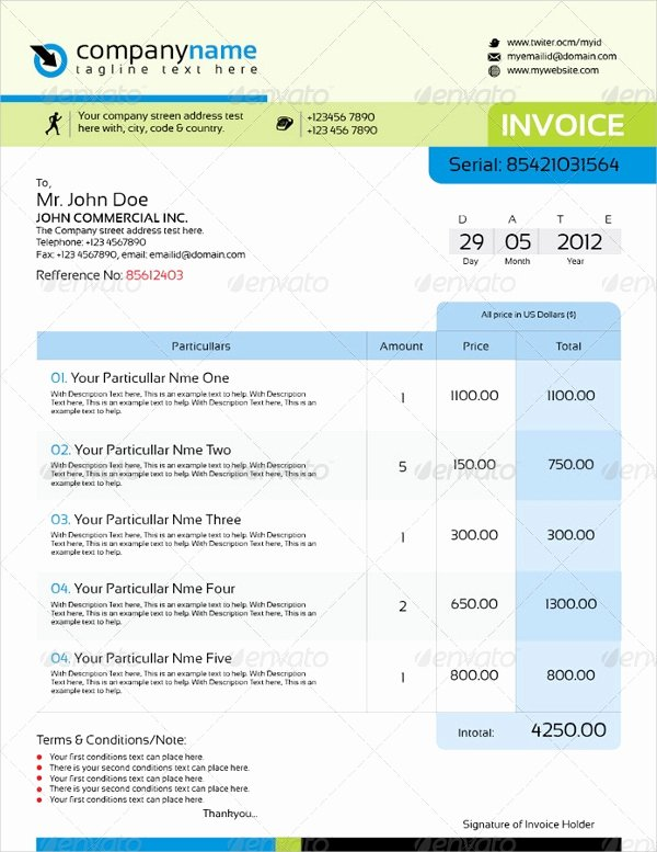 Free Indesign Invoice Template Inspirational Indesign Invoice Template 10 Free Indesign format