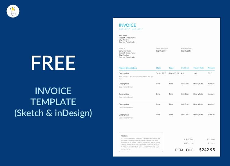 Free Indesign Invoice Template Lovely 15 Best Free Invoice Templates for Graphic Designers 2018