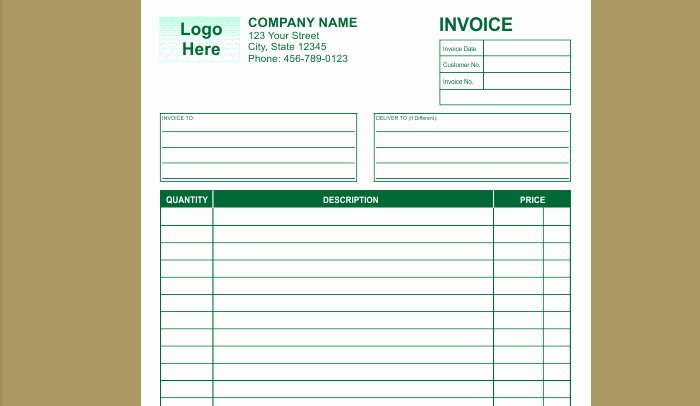 Free Indesign Invoice Template New 6 Indesign Invoice Template