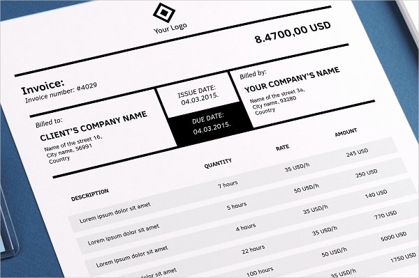 Free Indesign Invoice Template Unique Free Indesign Invoice Template
