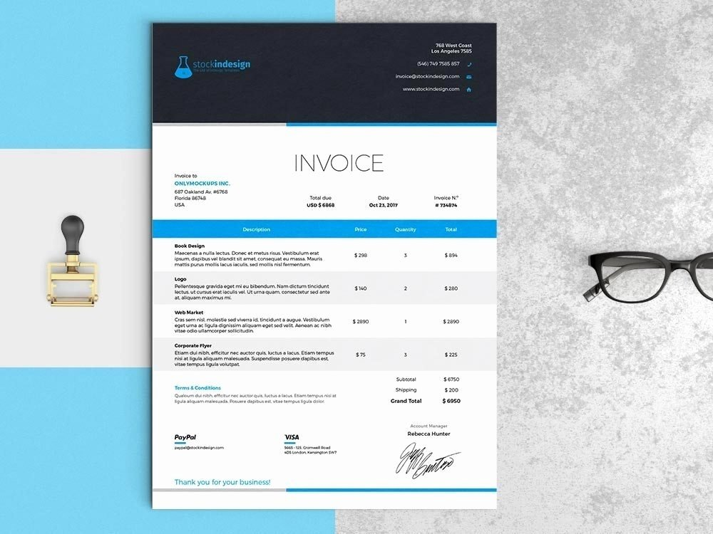 Free Indesign Invoice Template Unique Invoice Address – Estemplate