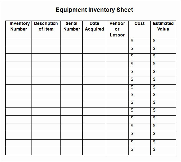 Free Inventory Spreadsheet Template Lovely Free 12 Sample Inventory Sheets In Google Docs