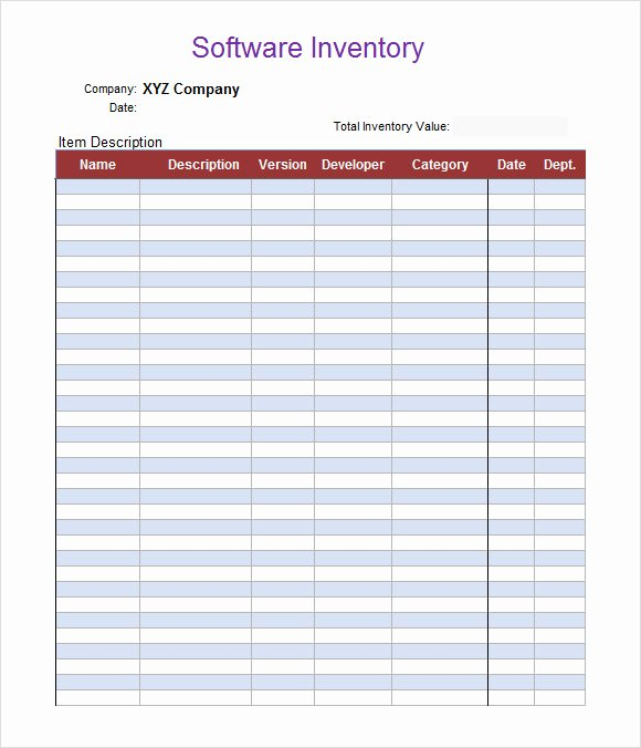Free Inventory Spreadsheet Template Luxury Sample Inventory Spreadsheet Template 8 Free Documents