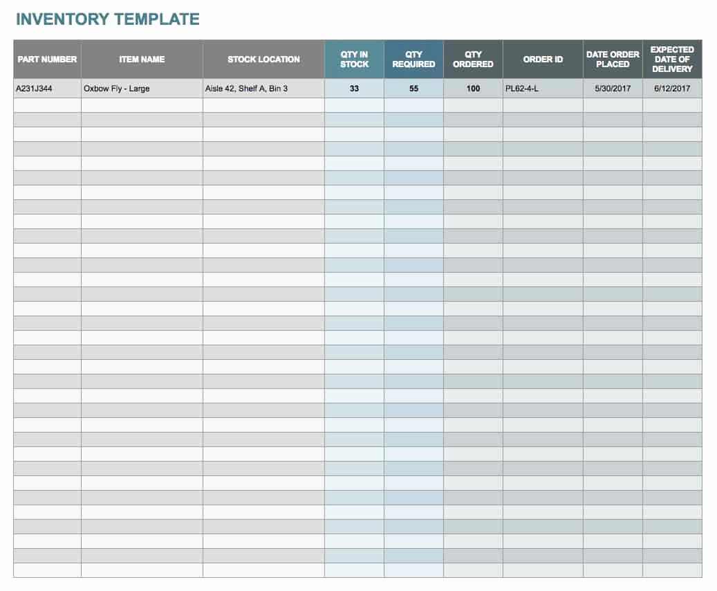 Free Inventory Spreadsheet Templates Awesome Free Google Docs and Spreadsheet Templates Smartsheet