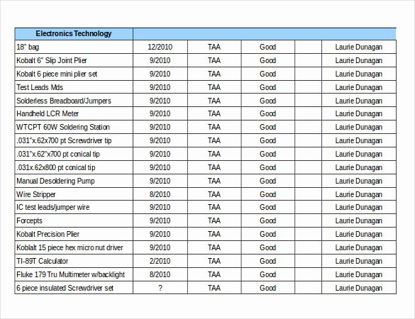 Free Inventory Spreadsheet Templates Unique 16 Free Inventory Templates Pdf Word Excel Pages