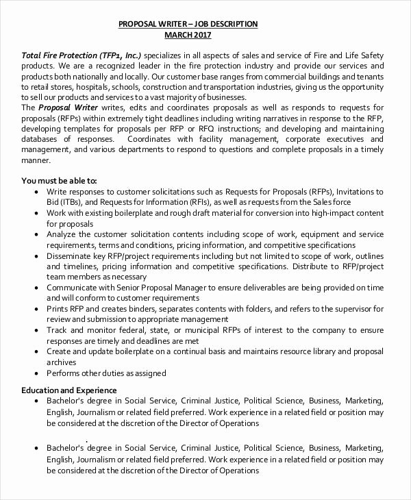 Free Job Proposal Templates Fresh Job Proposal Template 24 Free Word Pdf Document