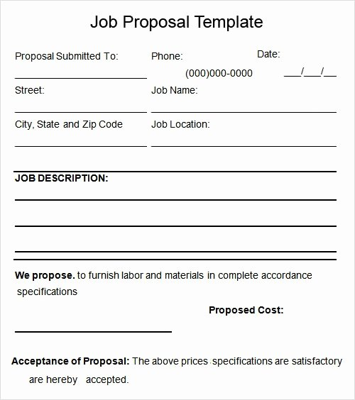 Free Job Proposal Templates Luxury Free 7 Proposal Templates In Pdf