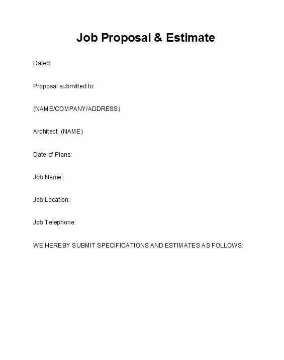 Free Job Proposal Templates Unique 43 Best Job Proposal Templates Free Download Template Lab