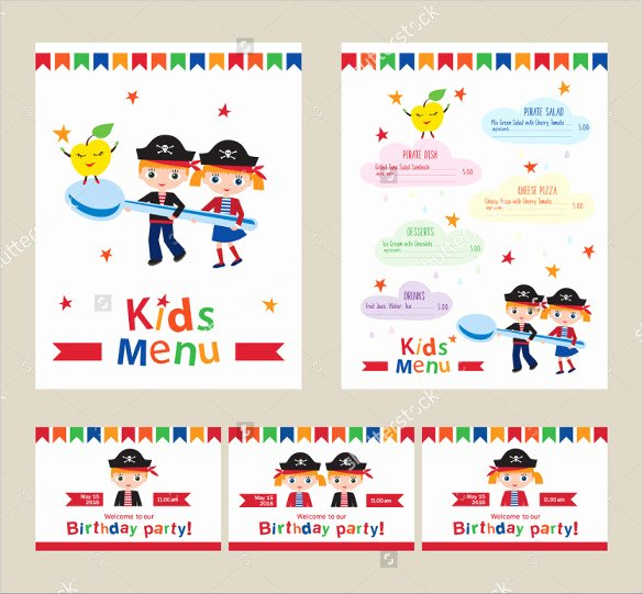 Free Kids Menu Template Best Of 21 Birthday Menu Templates Psd Eps Indesign
