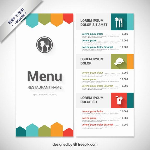 Free Kids Menu Template Fresh Colorful Menu Template Vector
