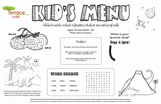 Free Kids Menu Template Fresh Kids Menu Kid Menu Designs Kid Menu Templates