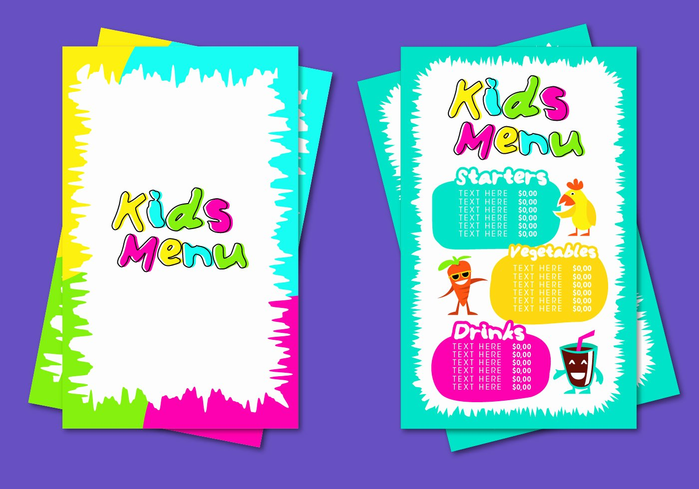 Free Kids Menu Template New Kids Menu Template Vector Download Free Vector Art