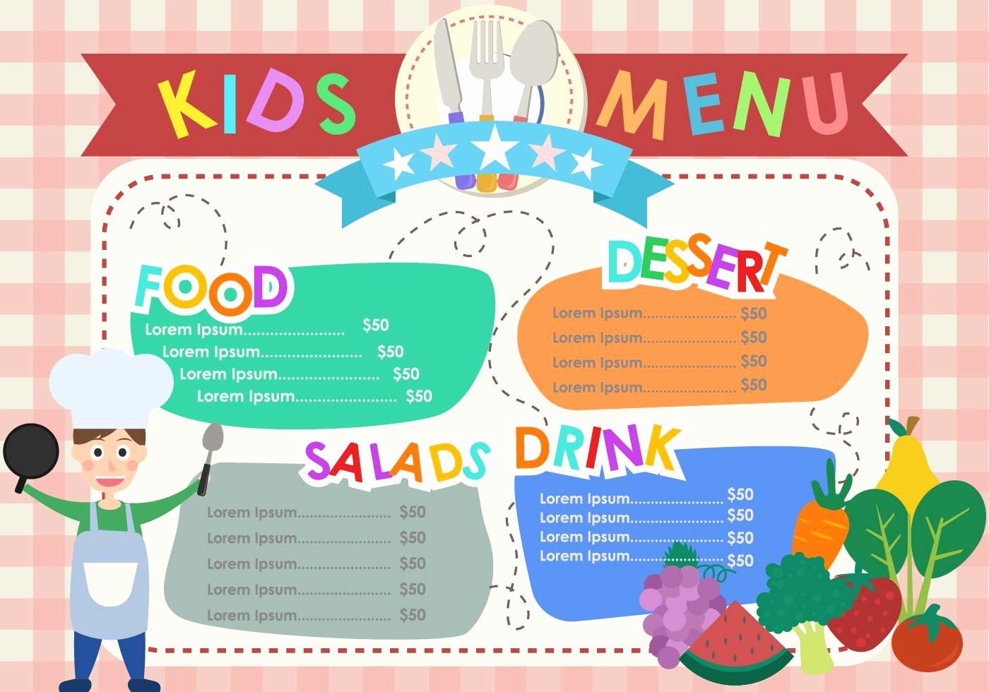 Free Kids Menu Template New Kids Menu Templates Download Free Vector Art Stock