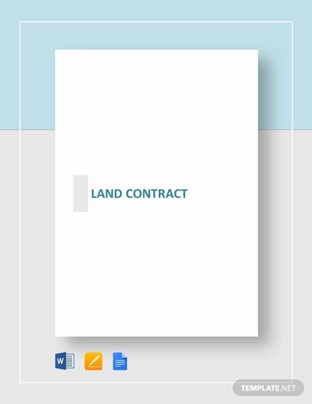 Free Land Contract Template Awesome 9 Land Contract Templates Free Sample Example format