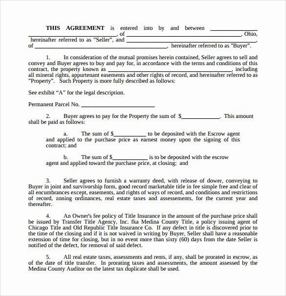 Free Land Contract Template Best Of Land Purchase Agreement Template 17 Download Free
