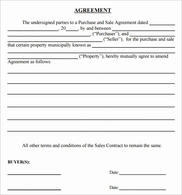 Free Land Contract Template Best Of Simple Land Purchase Agreement form