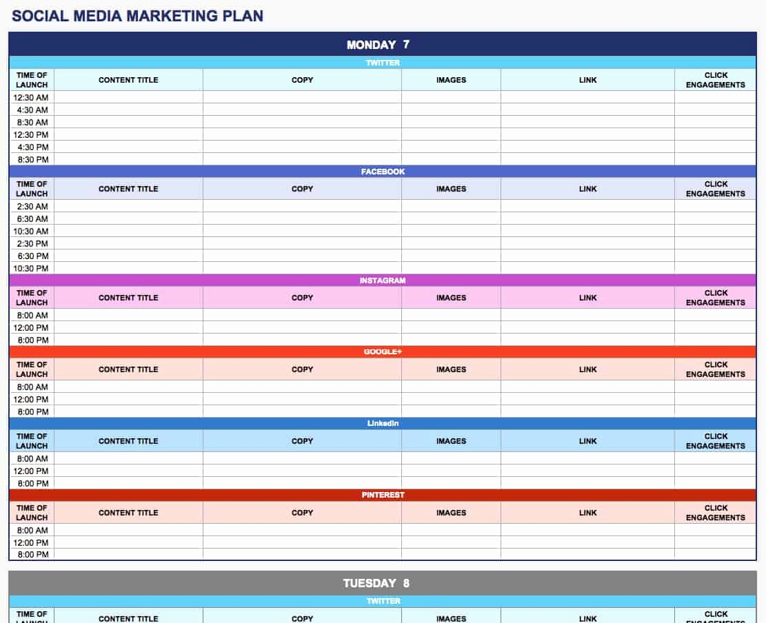 Free Marketing Plan Template Word Best Of Free Marketing Plan Templates for Excel Smartsheet