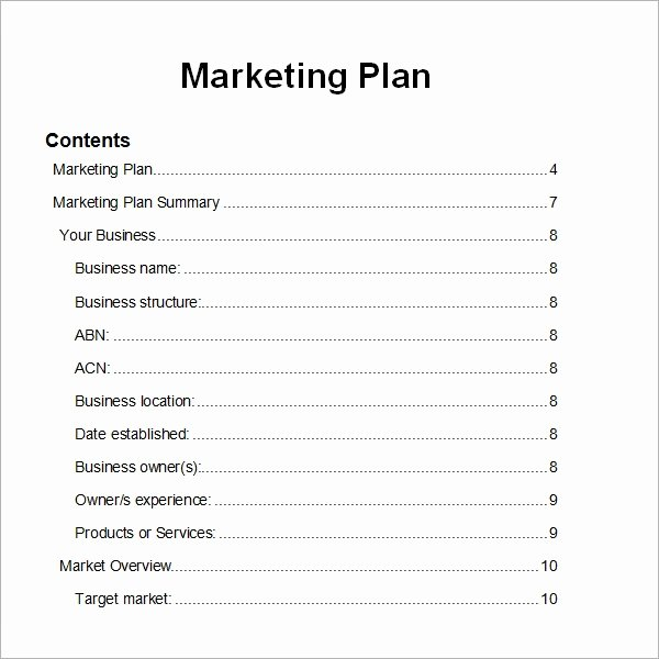 Free Marketing Plan Template Word Lovely Sample Marketing Plan Template 19 Free Documents In