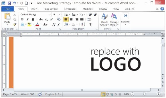 Free Marketing Plan Template Word Luxury Free Marketing Strategy Template for Word