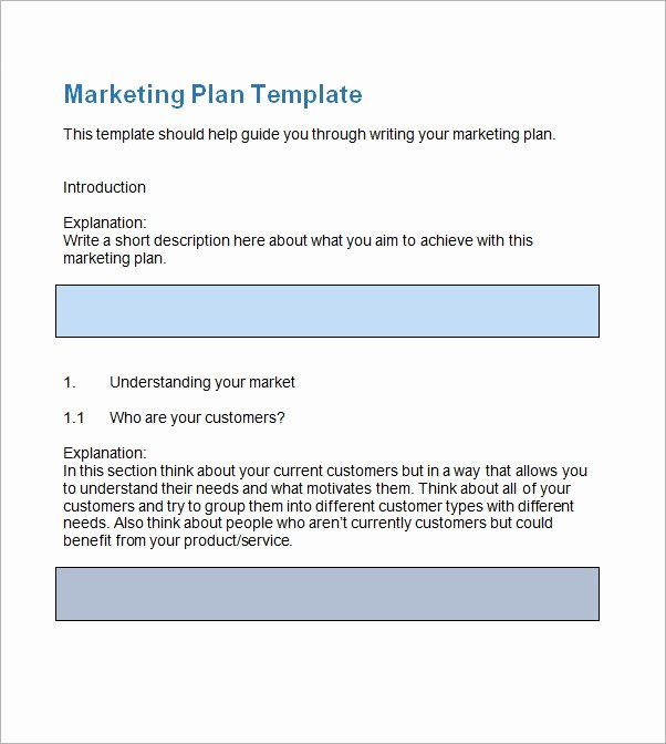 Free Marketing Plan Template Word Unique Sample Marketing Plan Template 13 Free Documents In