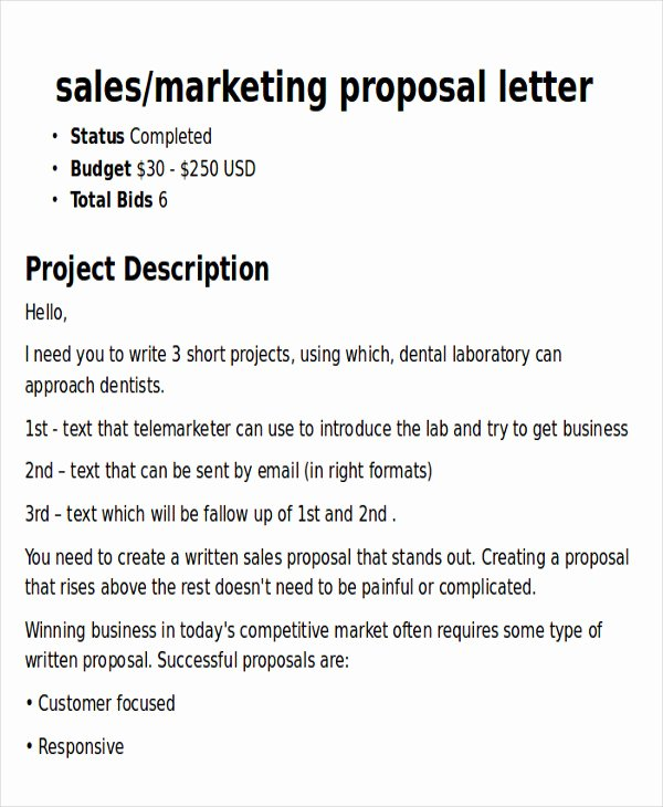 Free Marketing Proposal Template Fresh Sample Marketing Proposal Letter 5 Examples In Pdf Word