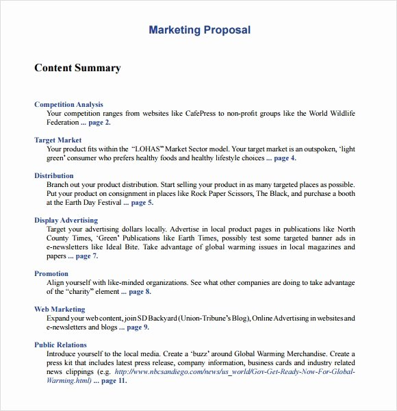 Free Marketing Proposal Template Inspirational 26 Marketing Proposal Templates – Free Sample Example