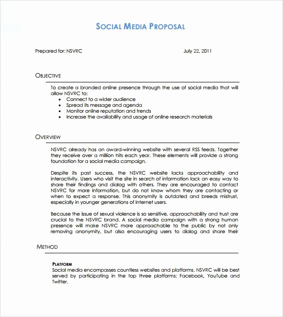 Free Marketing Proposal Template Lovely 26 Marketing Proposal Templates – Free Sample Example