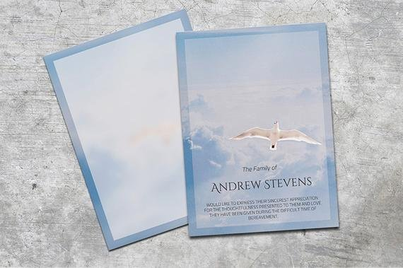 Free Memorial Cards Template Awesome Thank You Card Funeral Template Editable with Ms Word