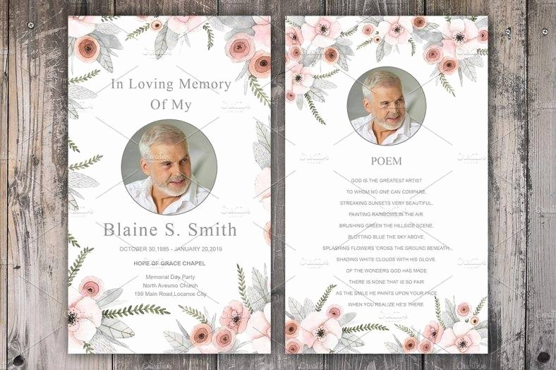Free Memorial Cards Template Beautiful 17 Funeral Memorial Card Designs & Templates Psd Ai