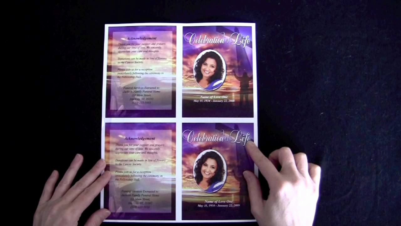 Free Memorial Cards Template Beautiful Funeral Memorial Cards