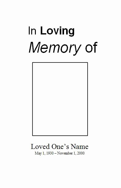 Free Memorial Cards Template Elegant Free Printable Obituary Template
