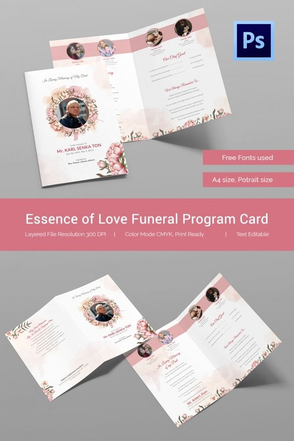 Free Memorial Cards Template Inspirational 21 Obituary Card Templates – Free Printable Word Excel