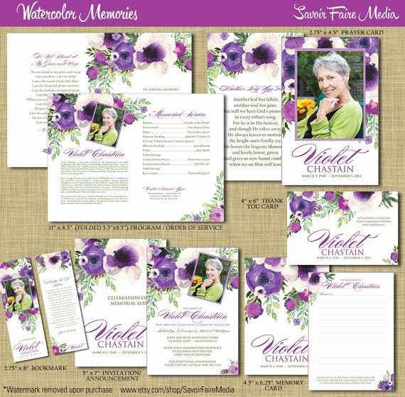 Free Memorial Cards Template New Funeral Memorial order Of Service Program Set Printable