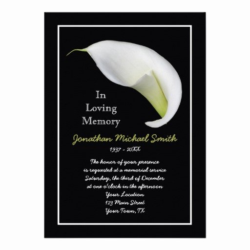 "Free Memorial Cards Template New Memorial Service Invitation Announcement Template 5"" X 7"