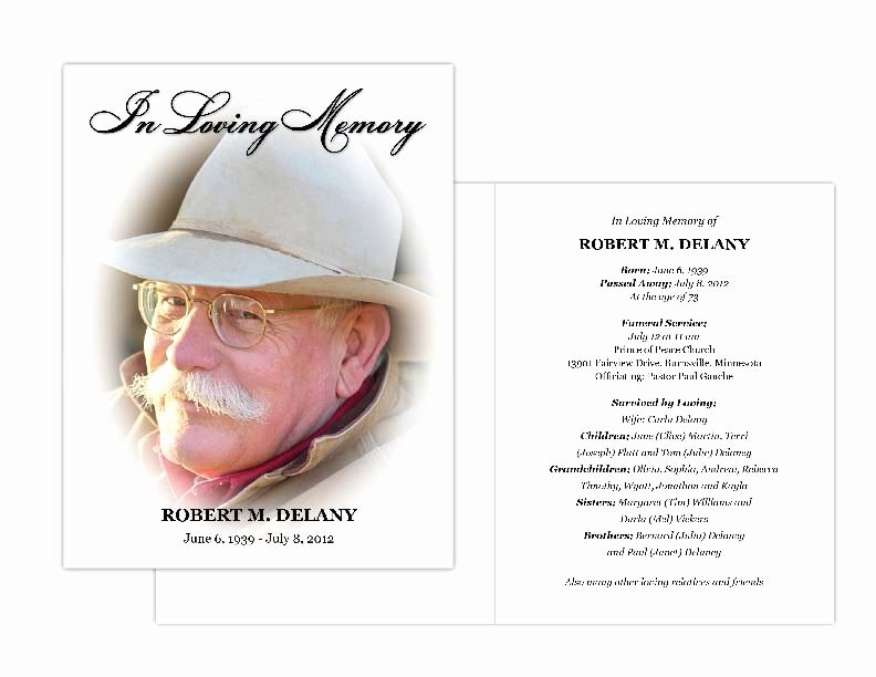 Free Memorial Cards Template Unique Memorial Cards Memorial Programs and Memorial Bookmarks