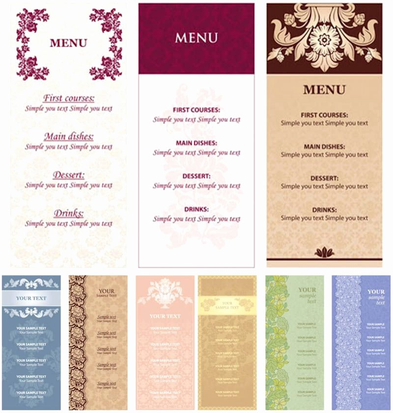 Free Menu Card Template Awesome Restaurant Menu Card Templates Free Download