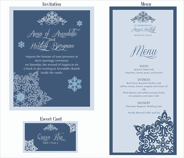 Free Menu Card Template Best Of 26 Downloadable Wedding Cards