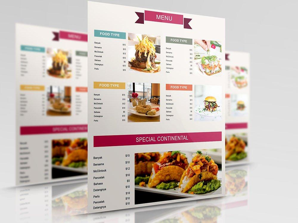 Free Menu Card Template Elegant 50 Free Psd Restaurant Flyer Menu Templates