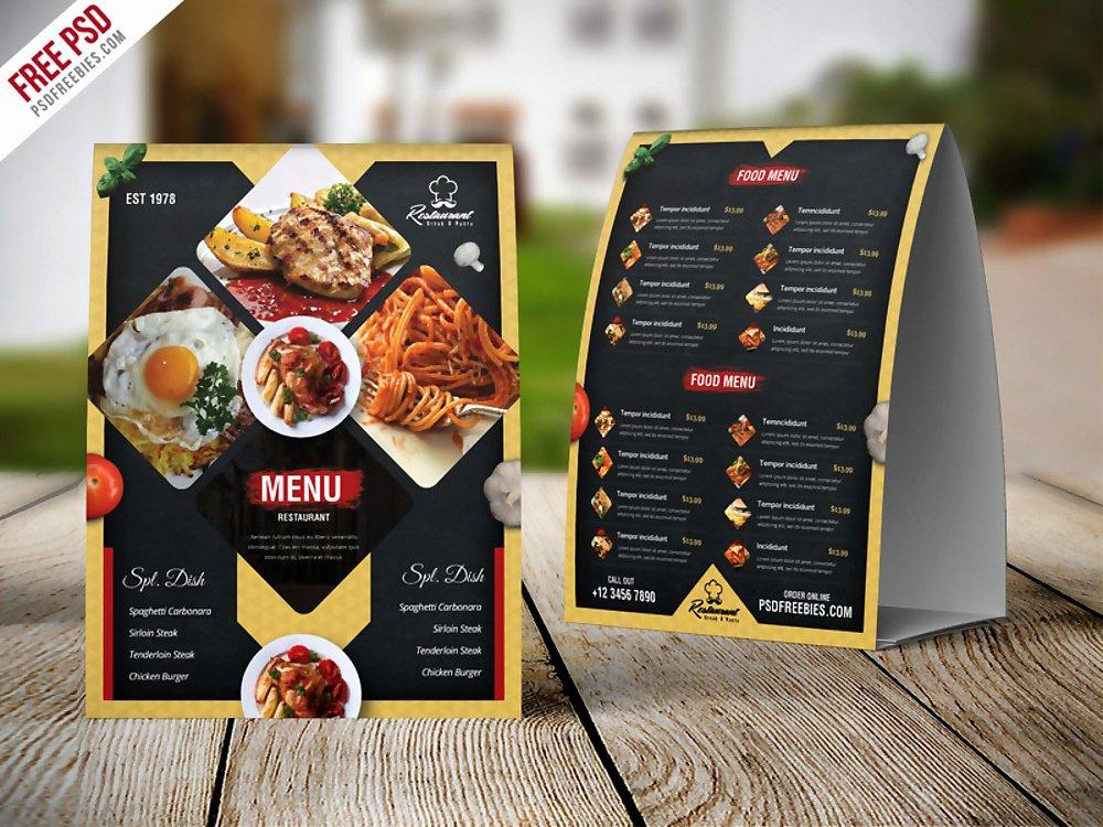 Free Menu Card Template Luxury 15 Psd Menu Designs & Examples