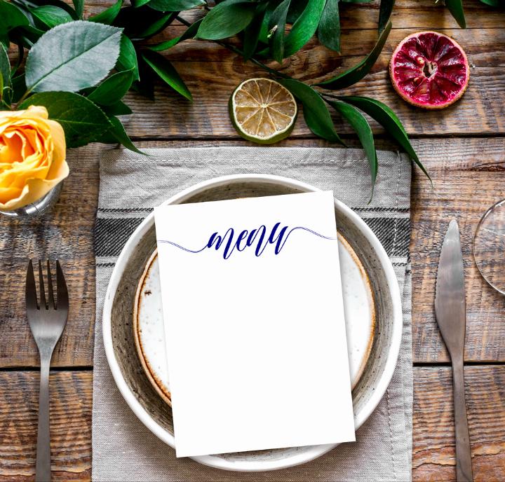 Free Menu Card Template New 14 Blank Wedding Templates Psd Ai