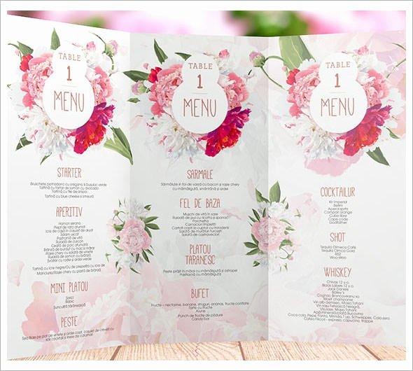 Free Menu Card Template New Wedding Menu Templates