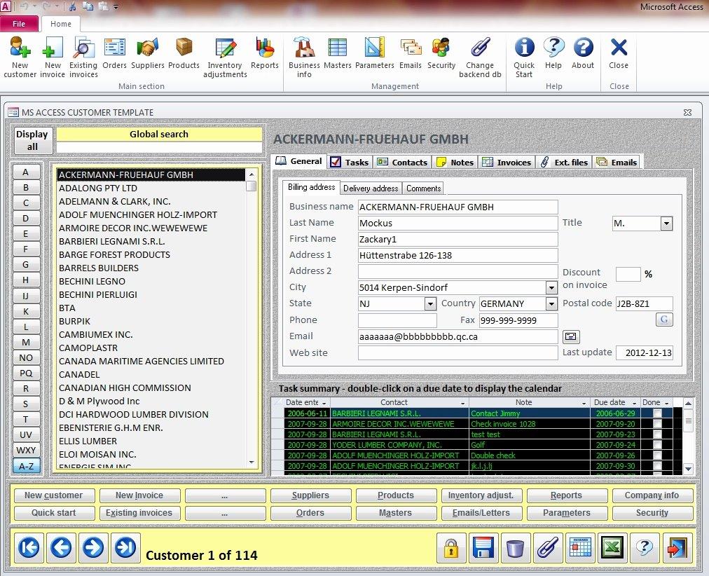 Free Microsoft Access Templates Elegant Crm Basic Ms Access Templates