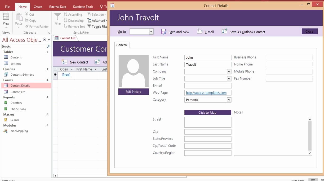 Free Microsoft Access Templates Elegant Microsoft Access Customer Contact Database