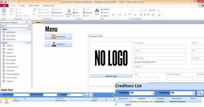 Free Microsoft Access Templates Lovely Access Templates Page 2 In Microsoft Access Templates and