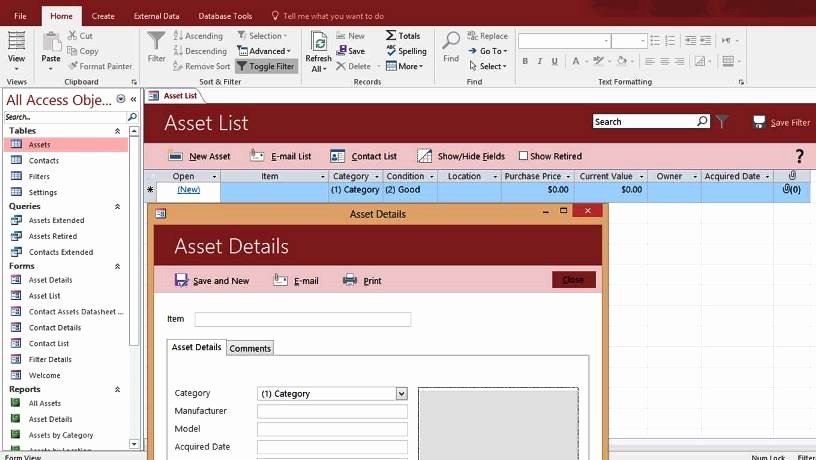 Free Microsoft Access Templates New Ms Access Database Management System by Microsoft
