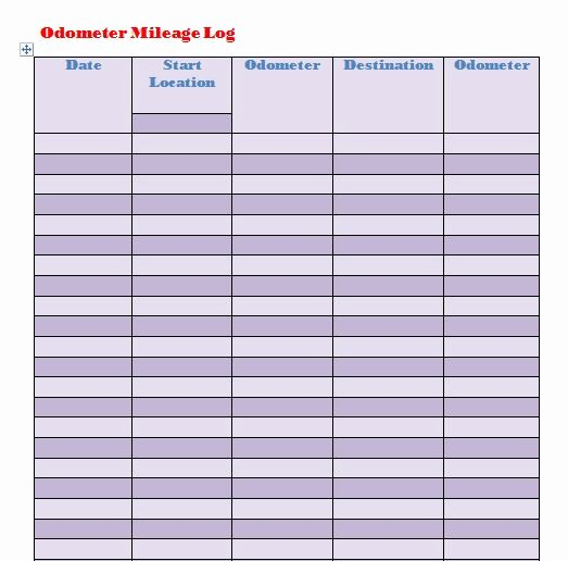 Free Mileage Log Template Best Of 30 Printable Mileage Log Templates Free Template Lab