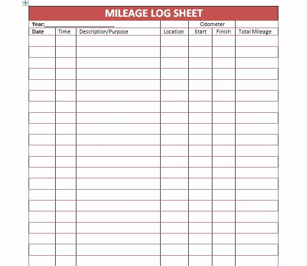 Free Mileage Log Template Fresh 30 Printable Mileage Log Templates Free Template Lab