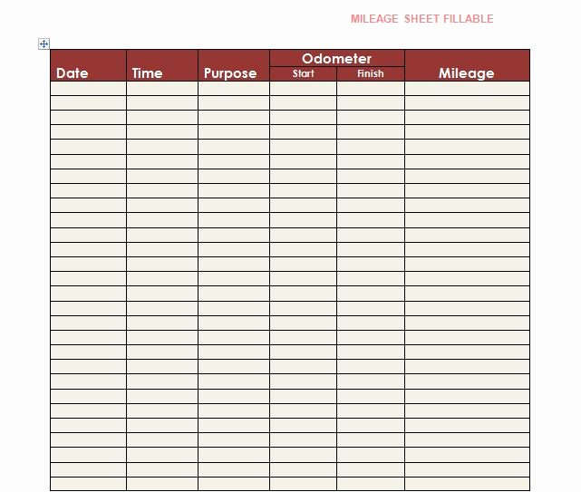 Free Mileage Log Template Lovely Free Mileage Log Templates Word Excel Template Section